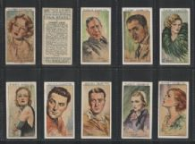 Cigarette card Tobacco cards Film Stars 1934, set of 50